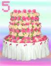 Торт цветочный круглый