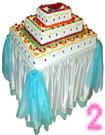 Торт-муляж фруктовый прямоугольный