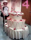 Торт бутафорский овальный