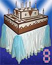 Торт-муляж шоколадный прямоугольный